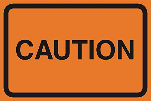 DYTrade Caution Orange Road Street Driving Construction Area Zone Safety Notice Warning Business Signs Commercial Metal Sign from DYTrade