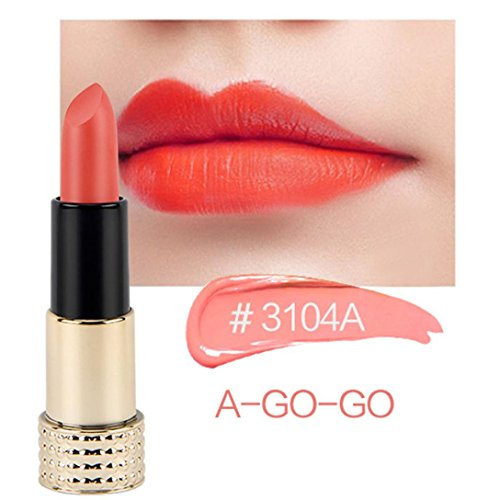 Matte Waterproof Lipstick, D-XinXin Ladies Beauty Makeup Waterproof Sexy Lipstick Hydrating Long Lasting Lipstick (D)