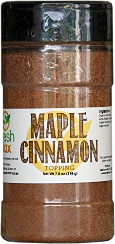 FreshJax Gourmet Spices and Seasonings, (Organic Maple Cinnamon: Topping) Large 7.6 oz -