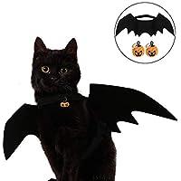 Crewell Halloween Costume Halloween Gatto per Animale Domestico Cane Gatto,Ali Pipistrello Costume da Pipistrello,Cosplay Gatto