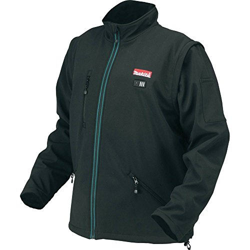 (Makita DCJ200ZL 18V LXT Lithium-Ion Cordless Heated Jacket, Black, Large)