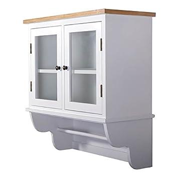 Küchenschrank weiß landhausstil  DESIGN DELIGHTS Landhaus WANDSCHRANK IDA | weiß, mit Glastür ...