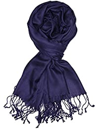 Large Soft Silky Pashmina Shawl Wrap Scarf in Solid Colors