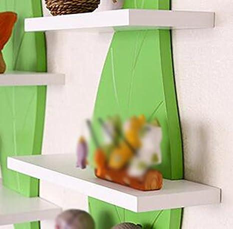 Amazon.de: Wand  Gestell/Wand Trennwand 3 Fach Gestell/Blätter / Kinder Gestell/Grün  Panel