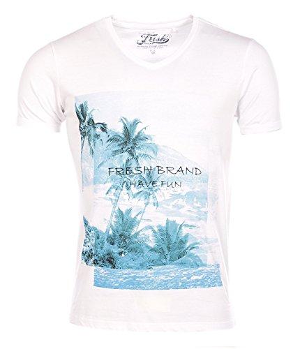 The Fresh Brand Herren Poloshirt weiß weiß XX-Large