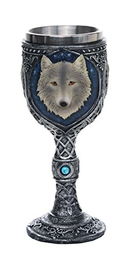 - Pacific Giftware Lone Wolf Celtic Magic 7oz Wine Chalice Goblet