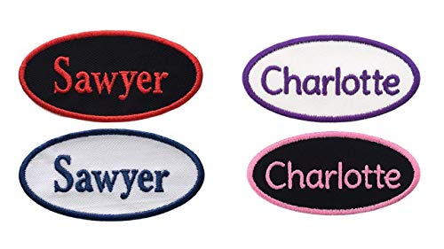 Custom Name Patch Embroided Name Tag - OVAL-4
