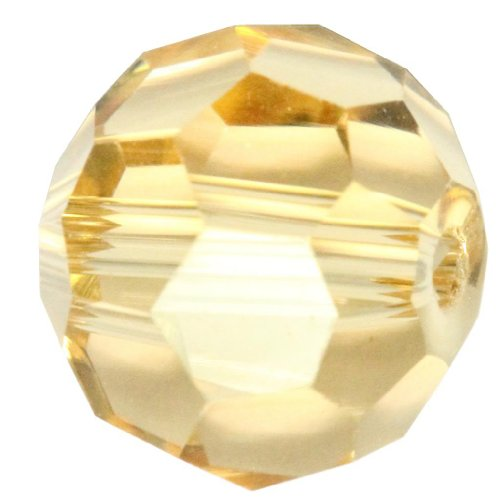 50 8mm Adabele Austrian Round Crystal Beads Gold Champagne Alternative For Swarovski Preciosa Crystalized Beads 5000 #SS2R-828
