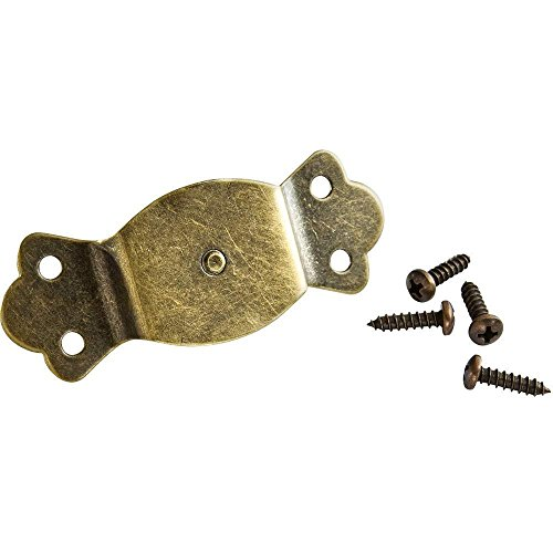Leather Trunk Handle - Antique Brass Plated Pinned Loops (Pair)