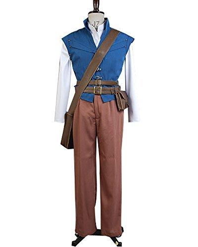 SIDNOR Tangled Prince Flynn Rider Eugene Fitzherbert Cosplay Costume