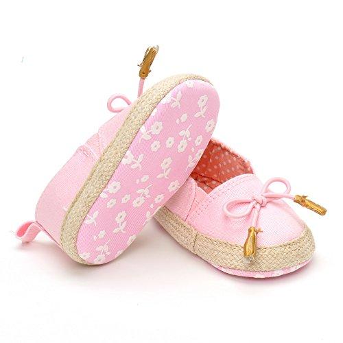 Bebé Niña Color Rosa Zapatillas