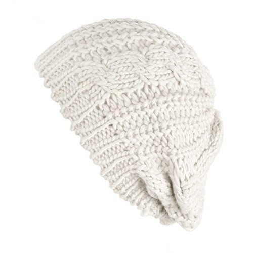 MIOIM Womens Winter Warm Beanie Hat Knitted Crochet Slouchy Baggy Beret Skull Cap