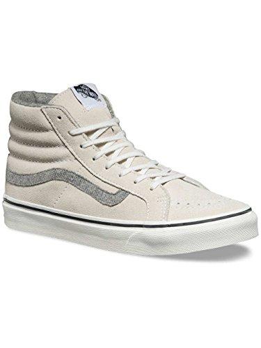 Vans Unisex Perf Leather Sk8-hi Slim Zip True White Sneaker - 7.5 (gamuza Vintage) True White