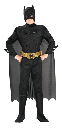 Batman The Dark Knight Costume Muscle Boy - Child 4-6 (2)