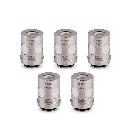 Vaporesso Tarot Nano Verdampferkopf Mini 80W E Zigarette/ E shisha, Tarot ECO Universal Coil(EUC)0,50Ω, ohne Nikotin, 5…