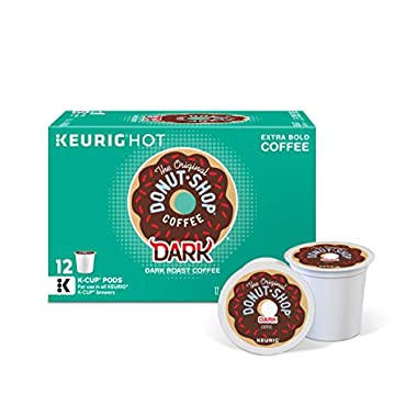 The Original Donut Shop Keurig Single-Serve K-Cup Pods, Dark Roast Coffee, 72 Count (6 Boxes of 12 Pods)