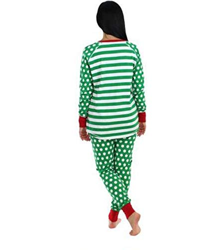 Da Genitore Biancheria Zhxinashu Mamma Adulto Natale Famiglia Pigiama Bambini Notte Verde bambino Imposta Abbinato Abbigliamento qCw1fSwxU