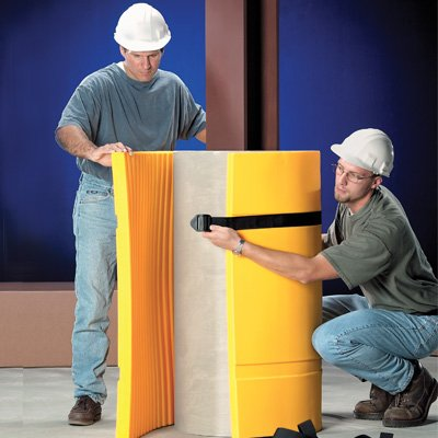 Plastic Concrete Round Column Padding by Emedco