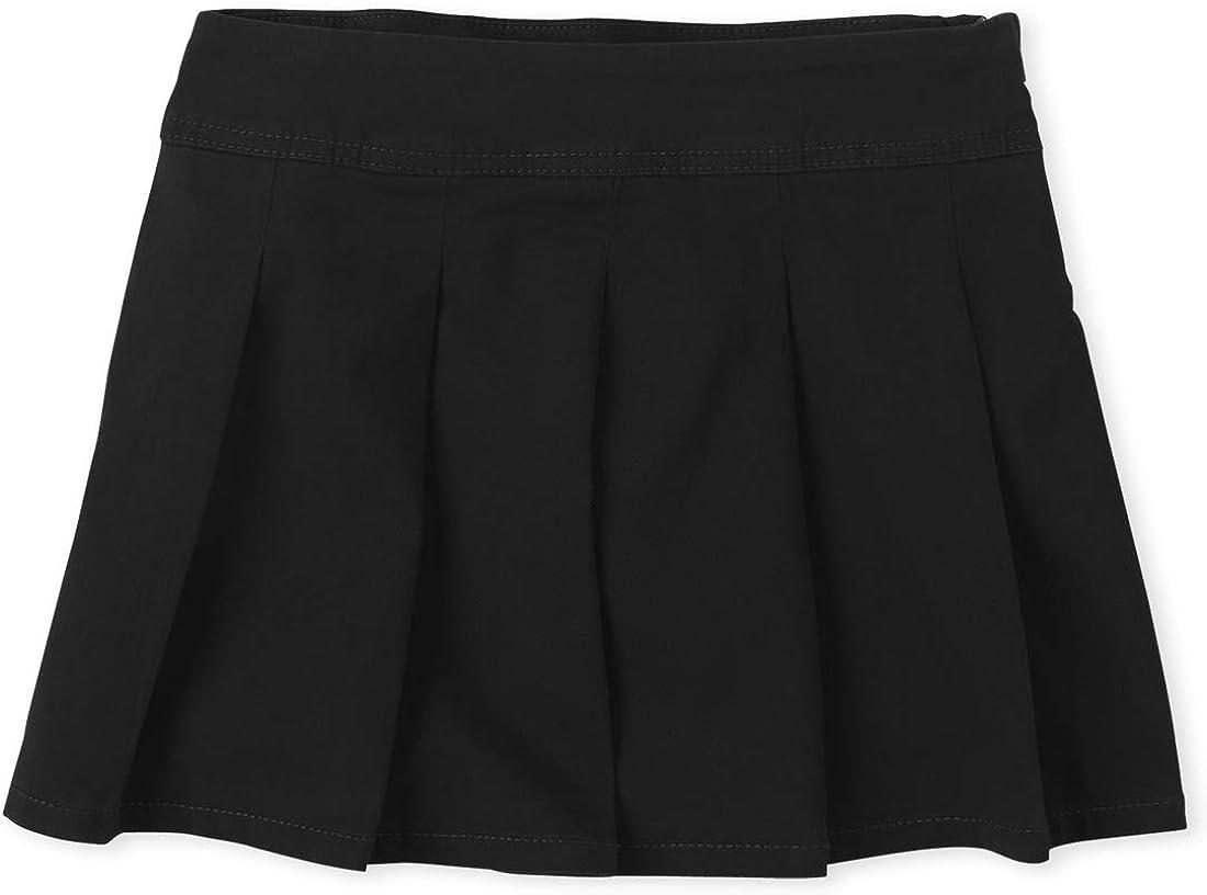 The Children's Place Girls' Uniform Pleated Skort: Clothing
