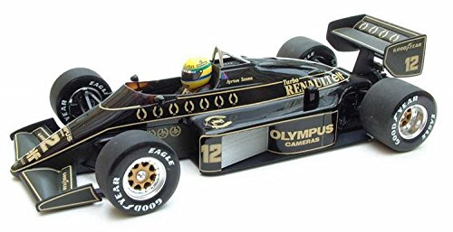1985 Lotus Renault 97T - Ayrton Senna Resin Model Car in 1:18 Scale by Minichamps (Kit 18 Cars 1)