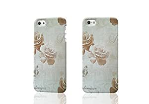 Shabby Chic Cream Rose Butterflies Floral Flower Vintage Feature 3D Rough iphone 5 5S Case Skin, fashion design image custom iPhone 5 5s , durable iphone 5 5S hard 3D case cover for iphone 5 5S, Case New Design By Codystore