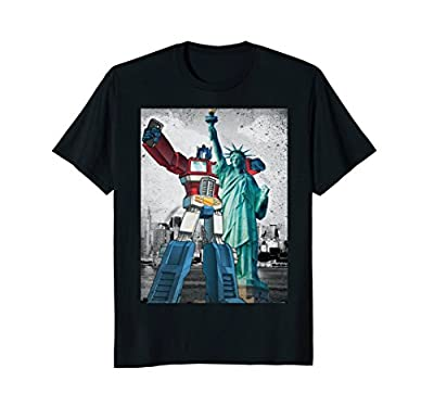 Transformers Optimus Prime Selfie With Statue Of Liberty Tee