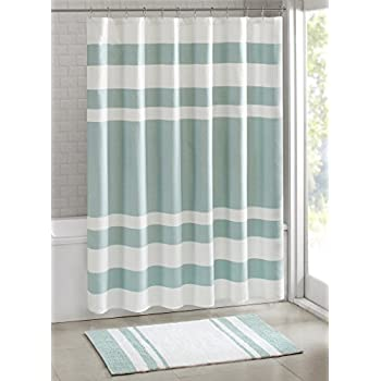 madison park spa waffle shower curtain with 3m treatment water repellent u0026 stain resistant
