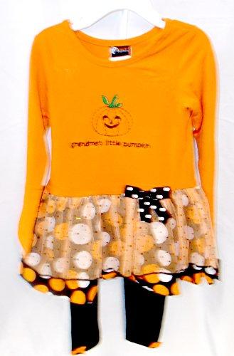 Grandma's Little Pumpkin Child Toddler Costume Dress Pants 4T NIP -