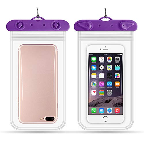 LIANCANG-case Waterproof Cell Phone Pocket, Tablet Waterproof Bag, Swimming, Sports, Travel, etc,Purple