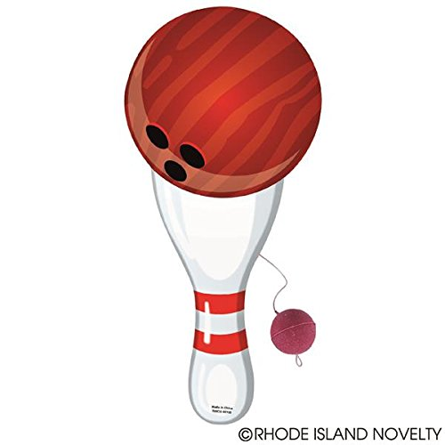 Rhode Island Novelty 9'' Bowling Paddle Ball (1 dozen) by Rhode Island Novelty