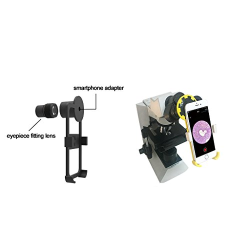 Microscope Smartphone Adapter with 23.2mm Built-in Eyepiece for iPhone 5/5s/5se by TerryDr Adapter