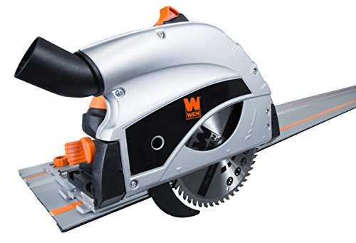 WEN 36055 9-Amp Plunge Cut Circular Track Saw with 2 Guide Rails