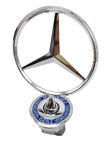 3D Emblem Car Logo Front Hood Ornament Car Cover Chrome Eagle Badge For Mercedes benz (Wheat Ears)