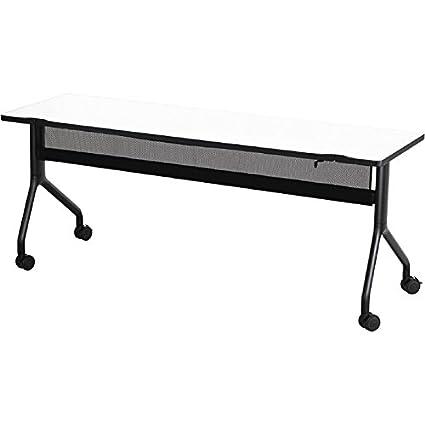 Safco Rumba Rectangular Nesting Table U2014 72in. X 24in., White/Black,