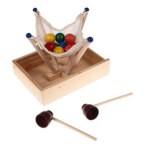 Contest Cookbook (GreenSun TM Wooden Fun Ball Contest Game Toy DIY Kids Assemble Hanging Balls Carrying Toy Educational Indoor Parent-Child Home Gaming Toy)