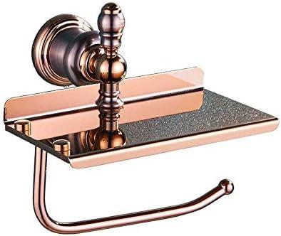 YASE-König American Retro Voll Kupfer, Gold, Multi-Funktions-Toilettenpapier-Halter-Handy-Papiertuch-Halter Größe 17cm * 9cm * 7.5cm haltbar