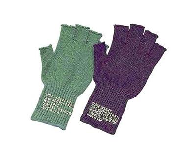 8410 G.I. Type Fingerless Gloves OLIVE