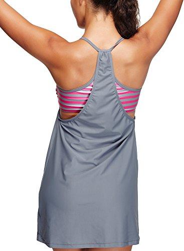 Azue - Tankini - para mujer Attractive Grey Stripe