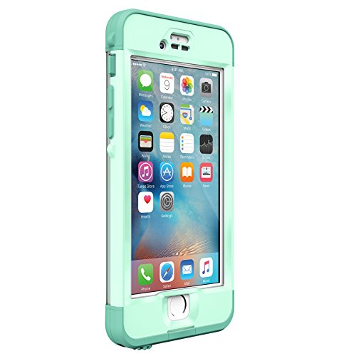 Lifeproof NÜÜD SERIES iPhone 6s ONLY Waterproof Case - Retail Packaging - UNDERTOW (AQUA SAIL BLUE/CLEAR/TAIL SIDE TEAL)