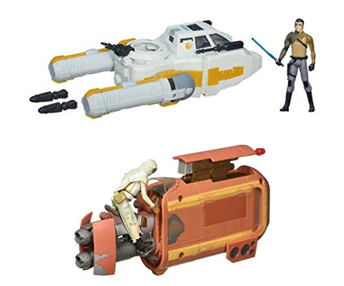 2 Pack Star Wars Bundle : Star Wars E7 Hero Craft Tan Hero Fighter Action Figure and Star Wars Rebels 3.75-inch Vehicle Y-Wing Scout Bomber
