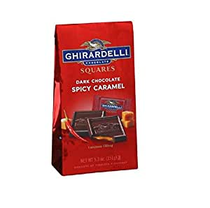 GHIRARDELLI SPICY CARAMEL DARK CHOCOLATE SQUARES 5.3oz BAG