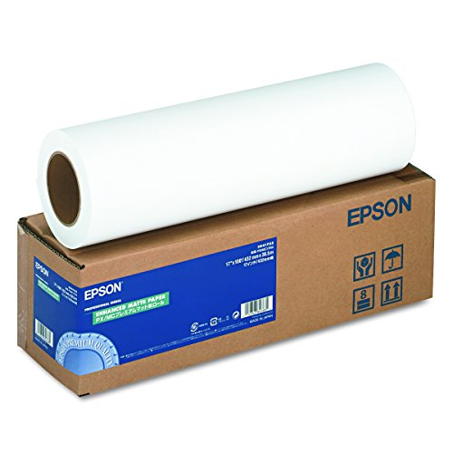 (Epson Professional Media Enhanced Paper MATTE  (17 Inches x 100 Feet, Roll) (S041725) )