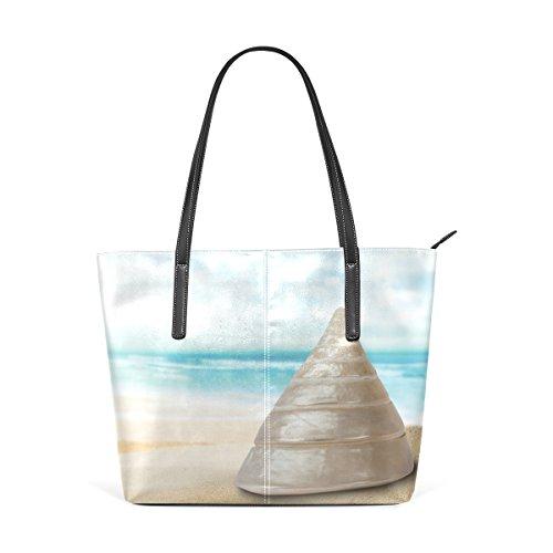 Top Playa De Bolsa Multicolor2 Concha Mujer La Deyya Mango Hombro Impresión Asas Wo Bolsos 0fFRRP