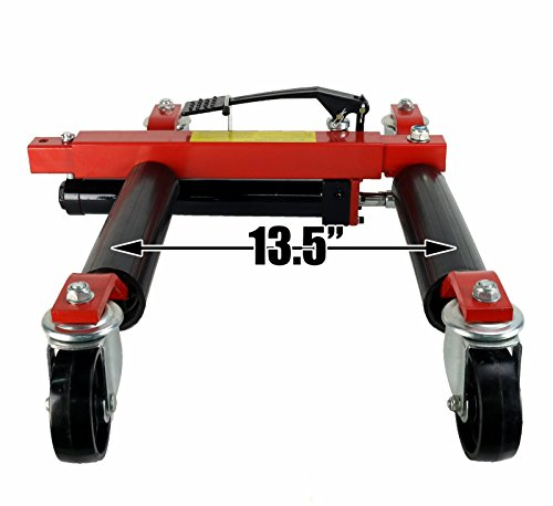(4) Dragway Tools 12'' Hydraulic Wheel Dolly Vehicle Positioning Jack Lift Hoist with 1500 lb Capacity by Dragway Tools (Image #5)