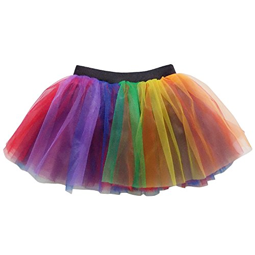 So Sydney Running Skirt - Teen or Adult Size Princess Costume Ballet Rave Dance or Race Tutu (Rainbow II)