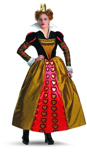 Disguise Women's Red Queen Deluxe Adult Costume, (Alice in Wonderland), Multi, Large (12-14) Costume