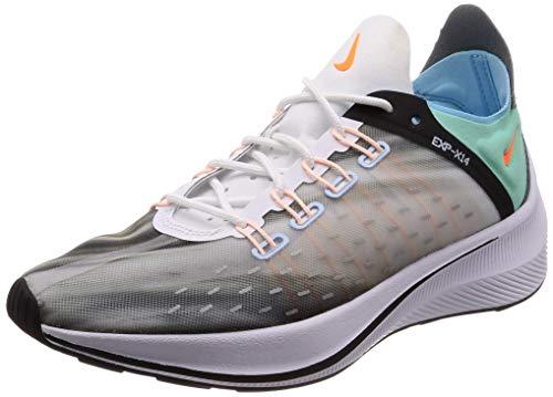 (Nike Unisex Exp-X14 QS White/Emerald Rise Cone Running Shoe 8 Men US)