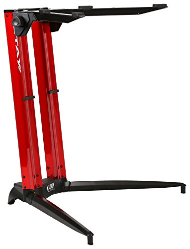 (Piano Series 27 Sitting Height Single-Tier Keyboard Stand Red (PIANO 700-01-RED))