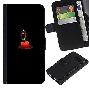 iBinBang / Flip Funda de Cuero Case Cover - Profunda melancolía Negro - Samsung Galaxy S6 SM-G920