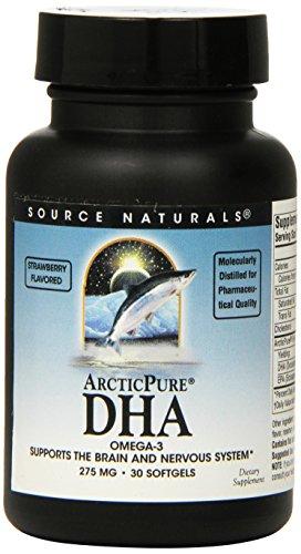 Source Naturals ArcticPure DHA Omega 3, Strawberry, 275mg, 30 Softgels